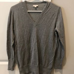 Gap grey glitter sweater